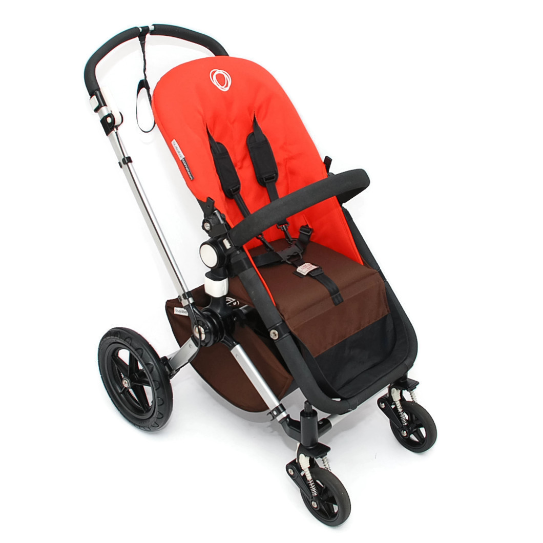 bugaboo cameleon 2 kinderwagen komplett orange braun dark brown ebay. Black Bedroom Furniture Sets. Home Design Ideas