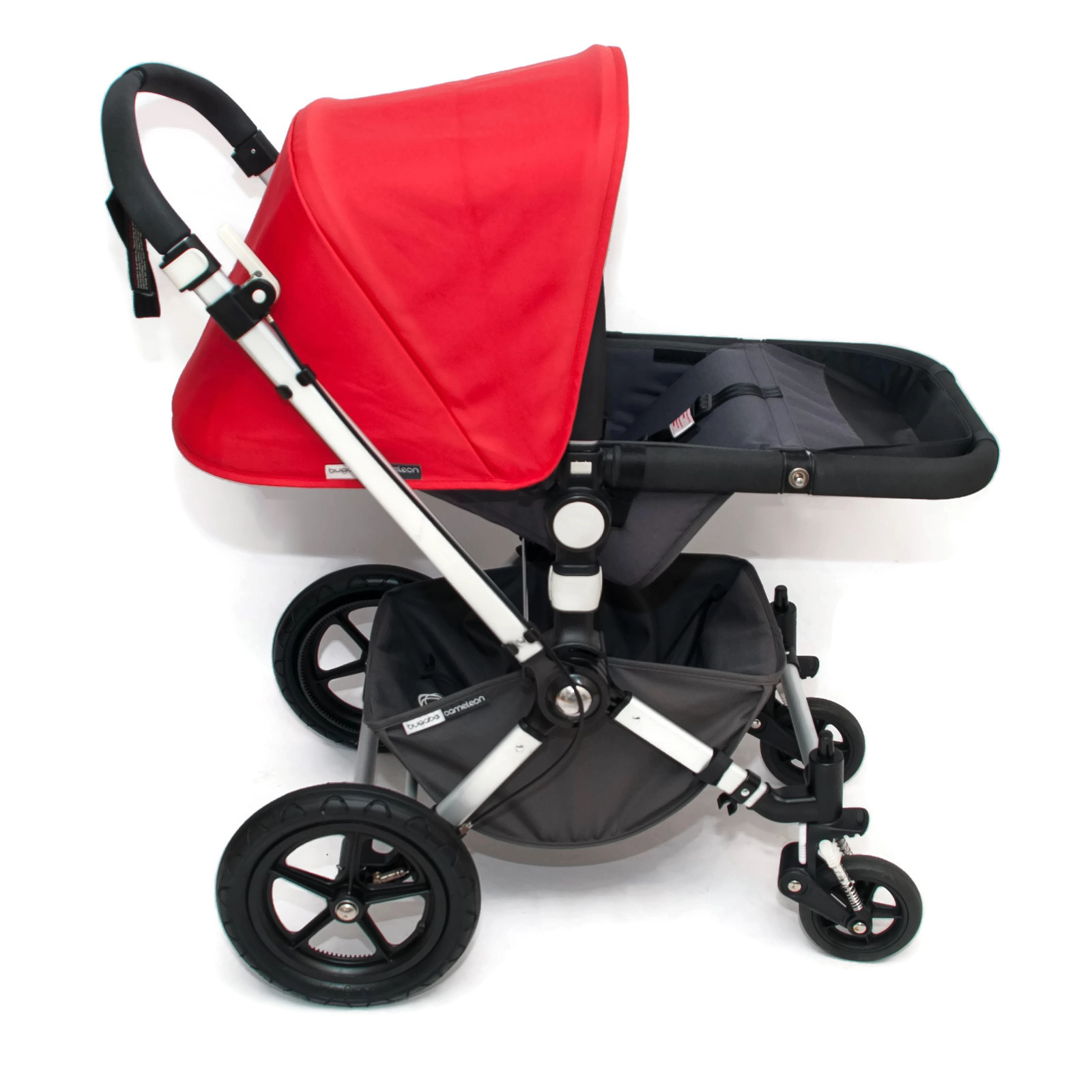 bugaboo cameleon 2 kinderwagen set komplett rot grau ebay. Black Bedroom Furniture Sets. Home Design Ideas