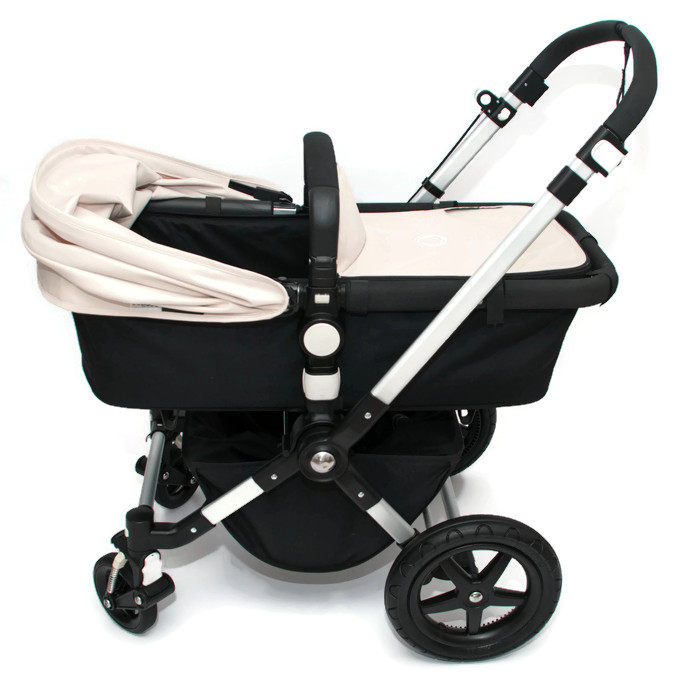 bugaboo cameleon 3 kinderwagen schwarz off white naturweiss ebay. Black Bedroom Furniture Sets. Home Design Ideas